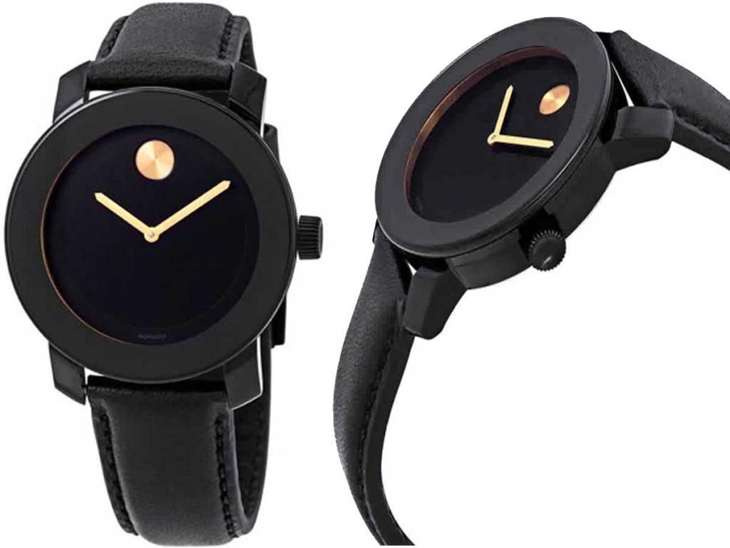Bold Black Dial Unisex Watch