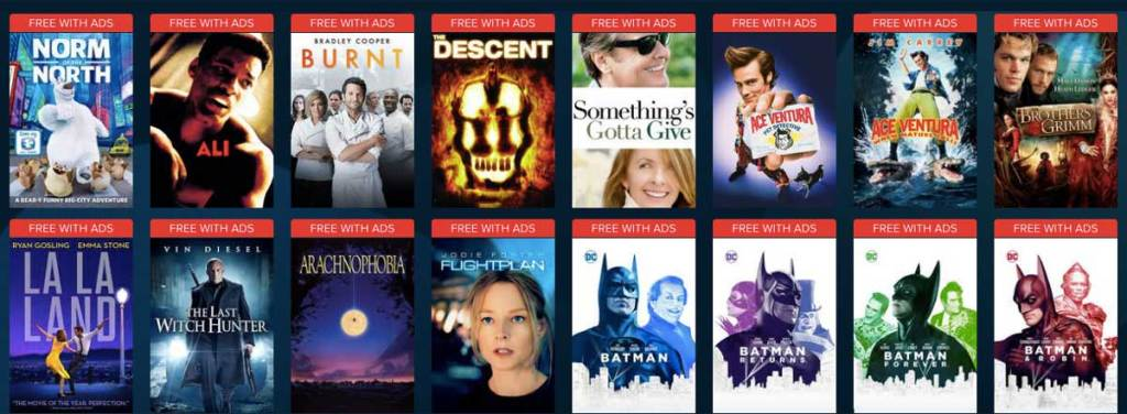 free with ads movies from vudu