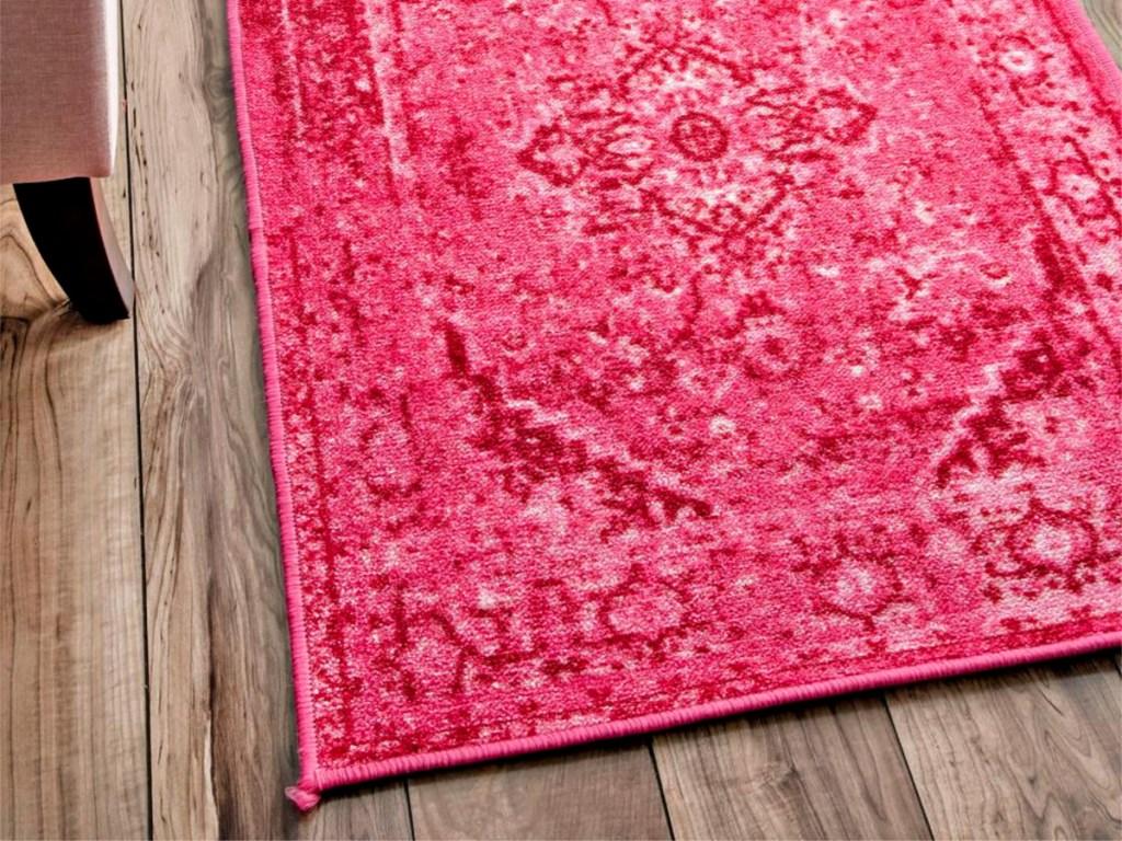 nuLOOM Reiko Vintage Persian Pink 3ft x 9ft Runner
