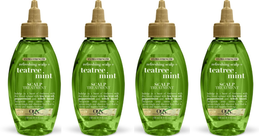 ogx tea tree mint spray product display