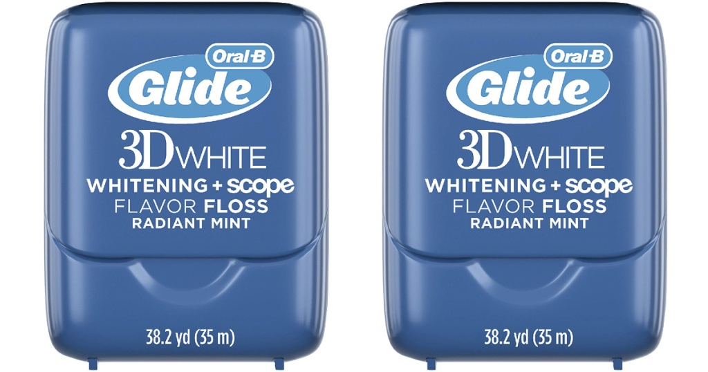 two oral-b glide 3d white floss