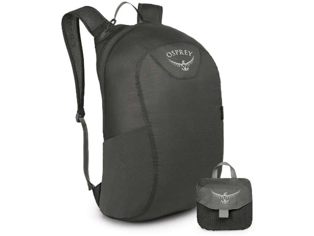 stock image of a black backpack