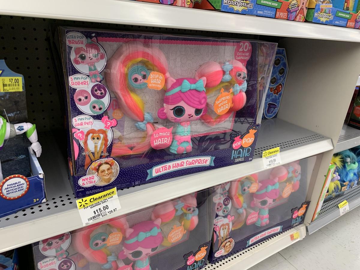 pop pop hair surprise on store shelf