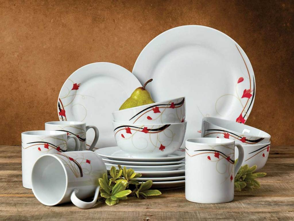 Tabletops Unlimited Kara 16-Piece Dinnerware Set