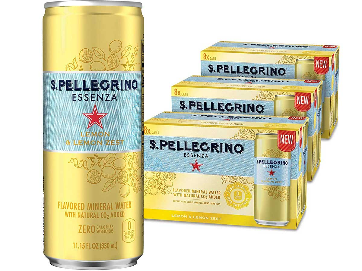 San Pellegrino Essenza Lemon & Lemon Zest Mineral Water 24-Count