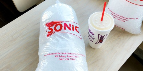 Take Home 10-Pound Bags of Sonic's Popular Ice For Around $2
