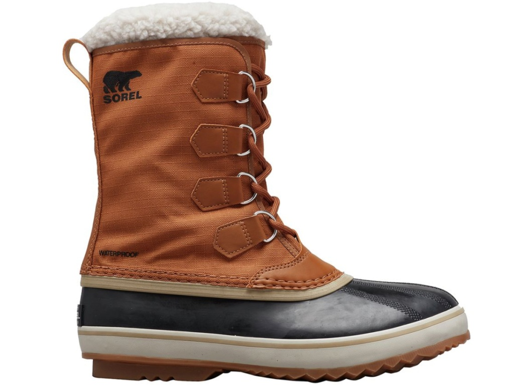 brown and blue mens sorel duck boots