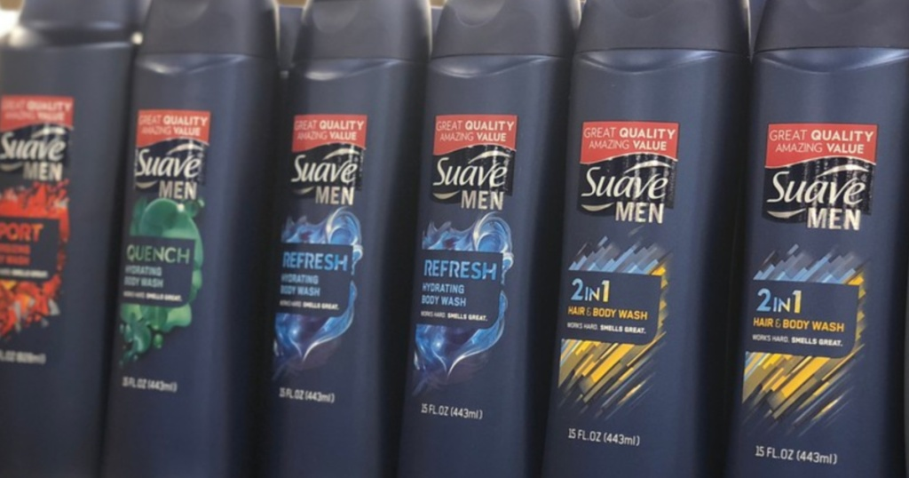 suave mens refresh body wash