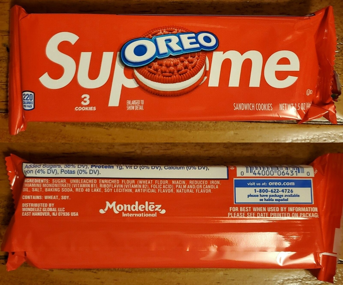 Supreme OREOs in packaging