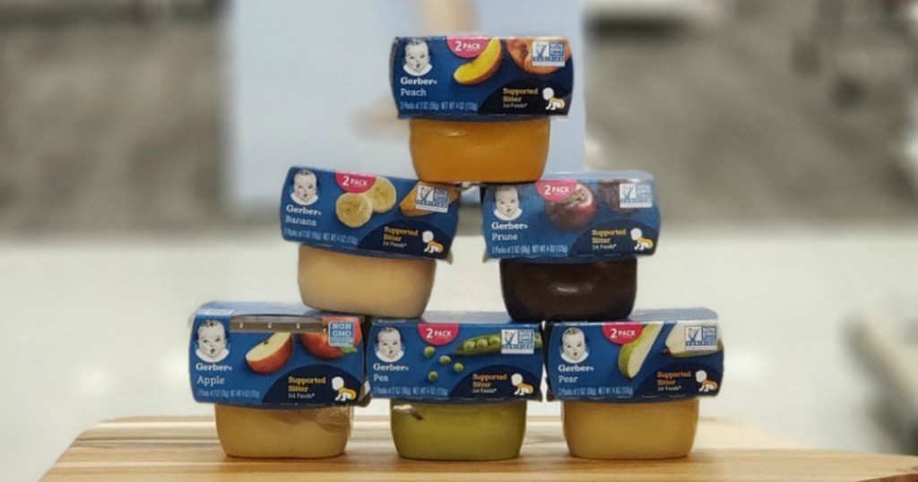 baby food tubs on display in a store