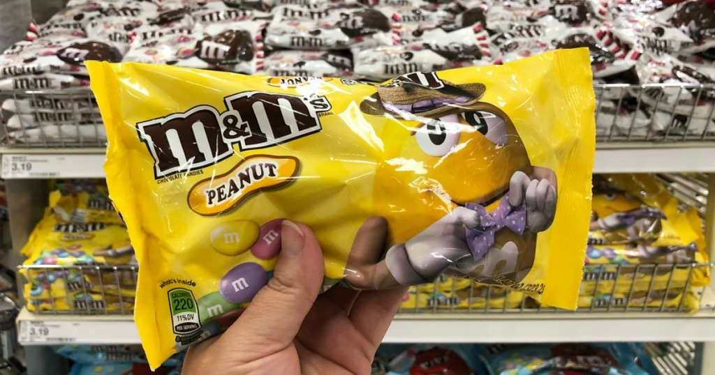 hand holding easter candy in a store