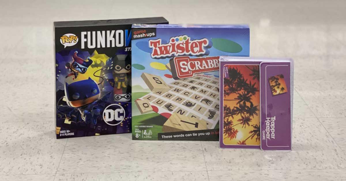 board games in a store