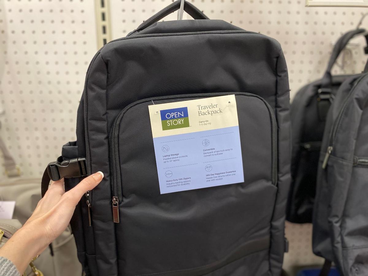 black backpack at Target