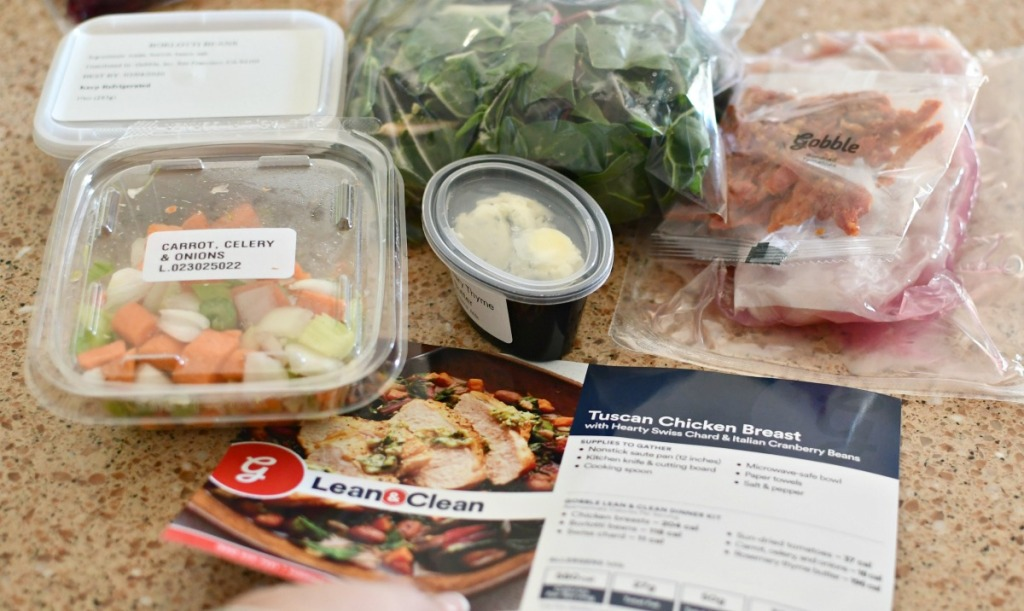 tuscan chicken ingredients from Gobble