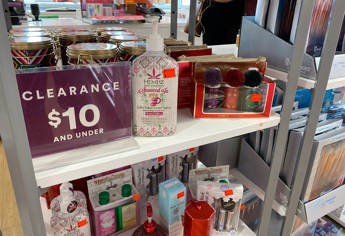 clearance section in ulta sale with