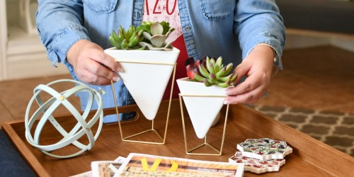 How Cute are these Geometric Vases from Amazon?!