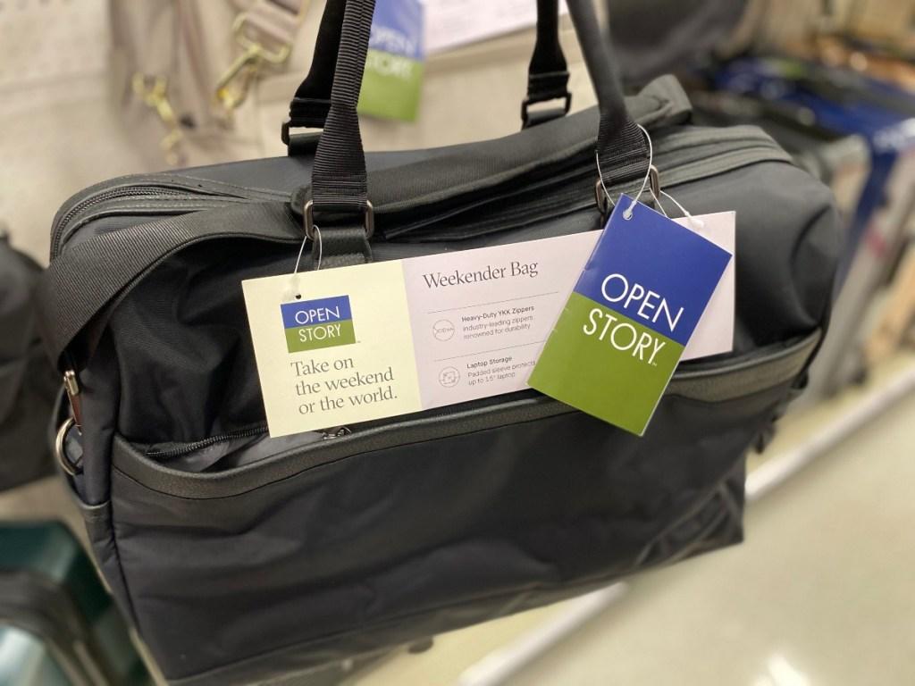black weekender bag at Target