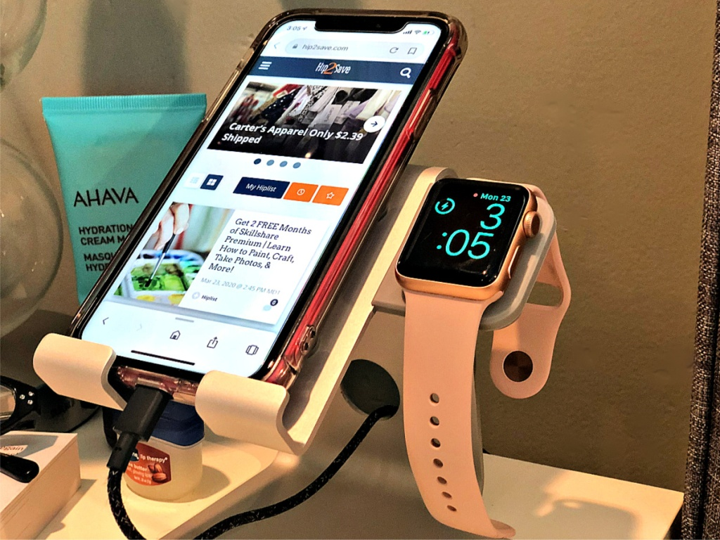 2-in-1 Charging stand on desk