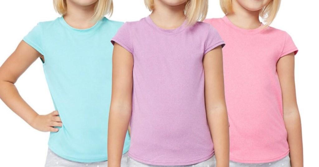 Girls wearing 32 degrees t-shirts