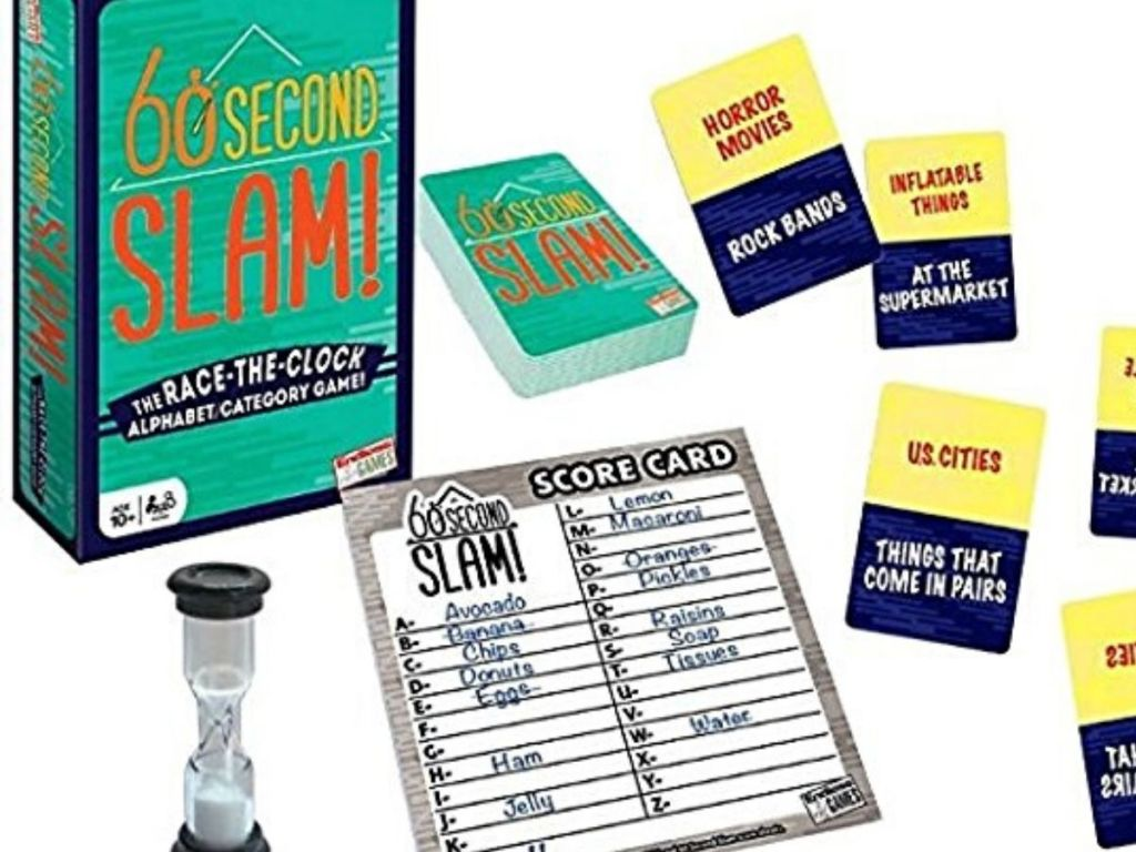 60 second slam board game contents