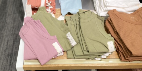 Women's Tees & Tanks from $4.80 at Target