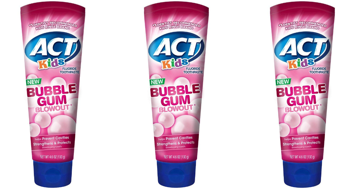 3 tubes of ACT toothpaste