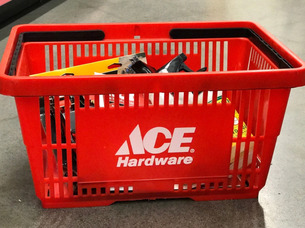 Ace Hardware Basket with tools