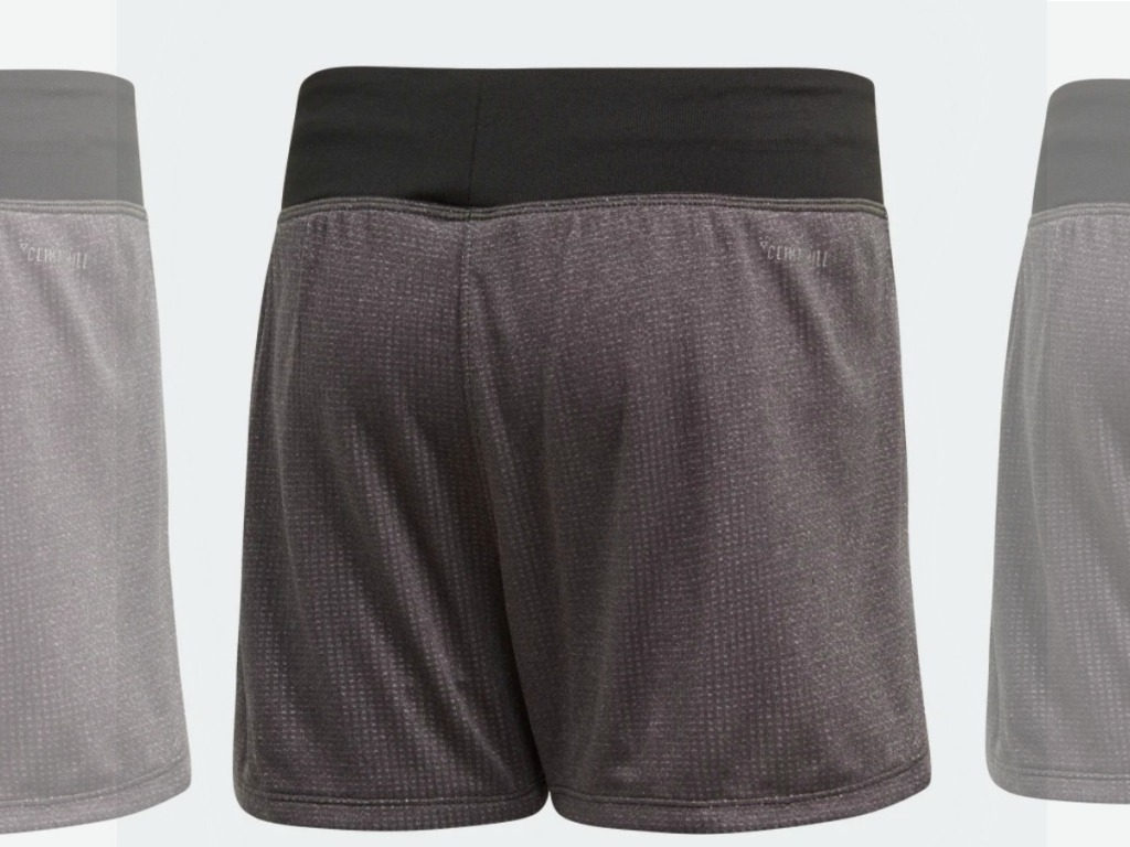 Boys gray shorts with black band