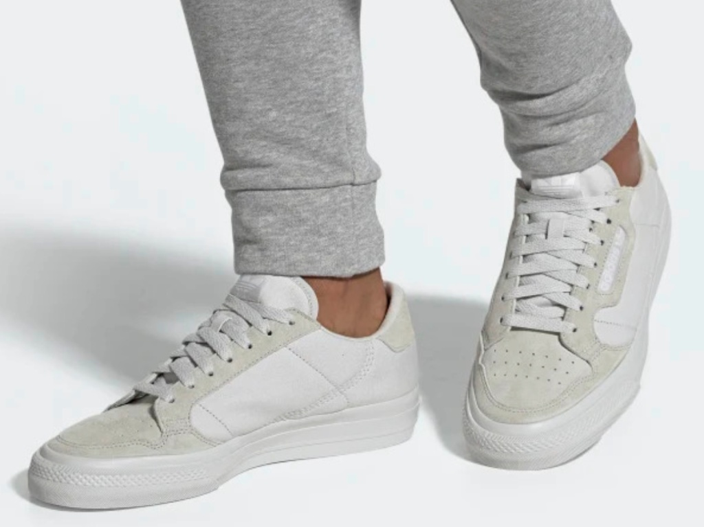 grey and white casual shoes