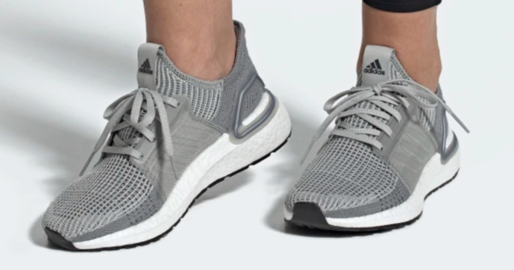 Woman wearing adidas Ultra Boost Shoes