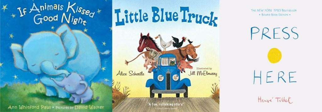 three children's book covers