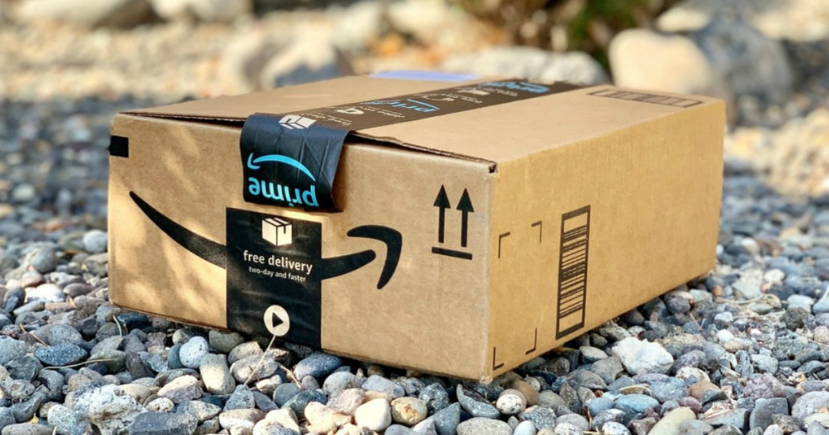 Amazon Box sitting on ground