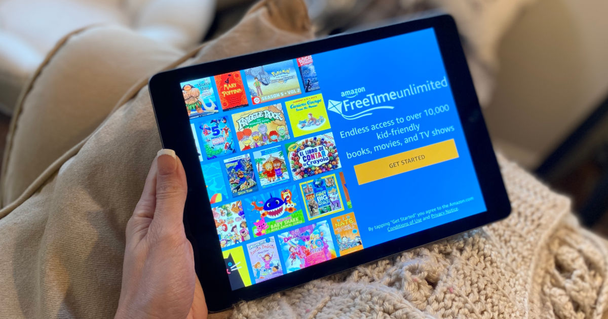 Amazon FreeTime Unlimited on ipad with blanket