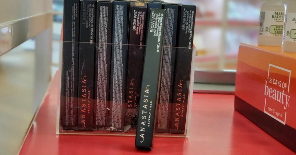 Anastasia Brow Wiz Boxes on a shelf