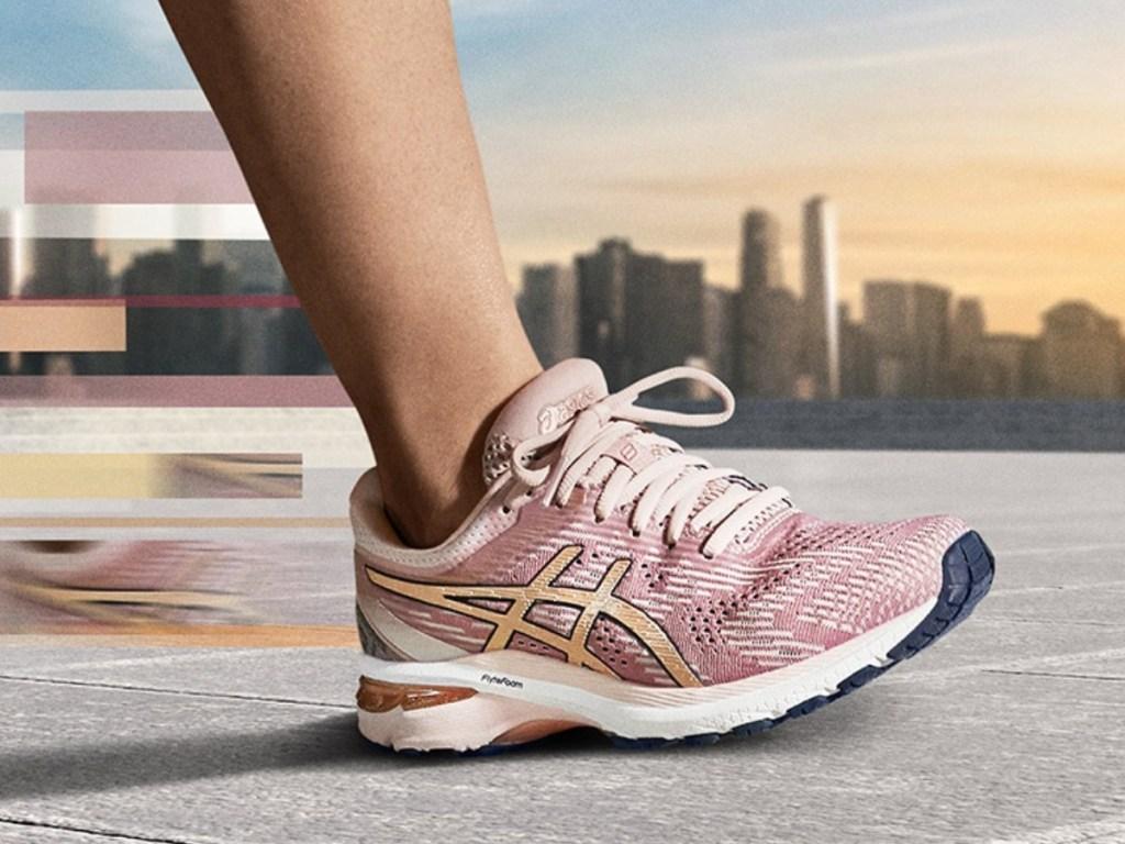 pink pair of women's Asics GT-2000 8 Running Shoes