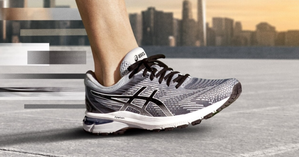 men pair of grey, black, and white Asics GT-2000 8 Running Shoes