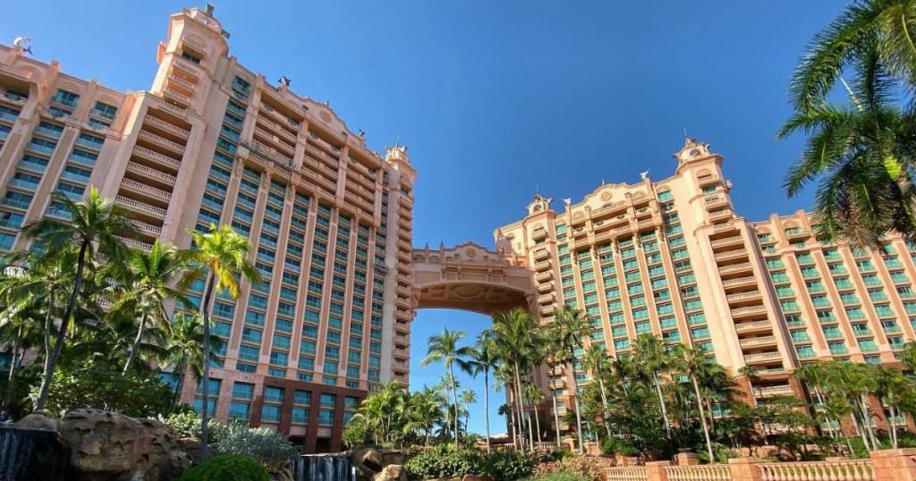 front view of Atlantis Bahamas resort