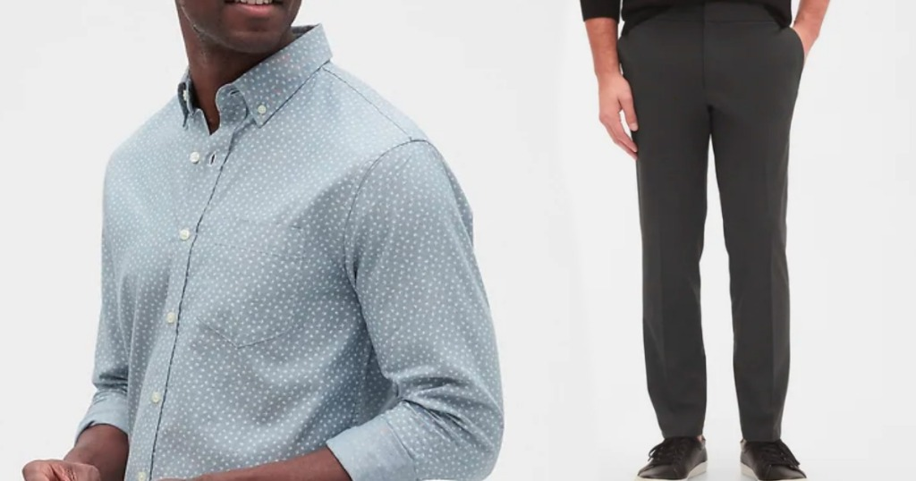 man wearing a dress shirt and pants