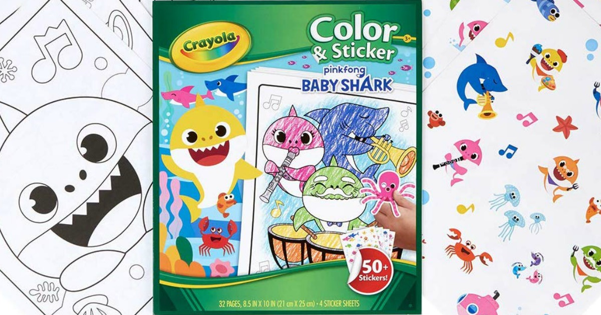 Crayola Baby Shark Or Toy Story 4 Coloring Pages Stickers Only 3 74 Great For Easter Baskets Hip2save