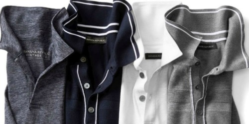 Banana Republic Men's Polo Shirts Just $13.50 for Cardholders (Regularly up to $54.50)