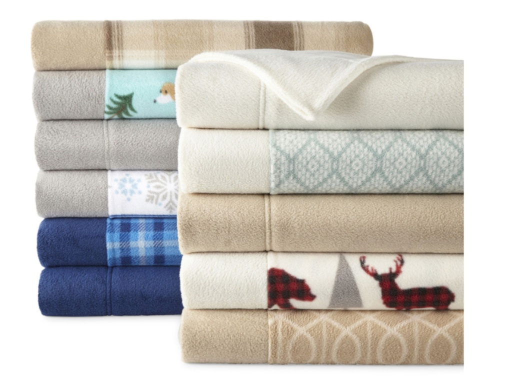 various color and patterned sleece sheets