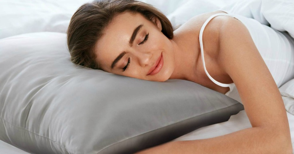 woman sleeping on a pillow