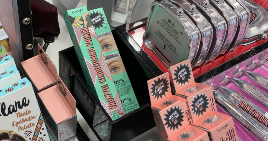 brow makeup in display in store