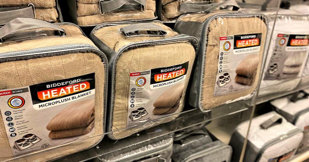 Biddeford Microplush Heated Blankets
