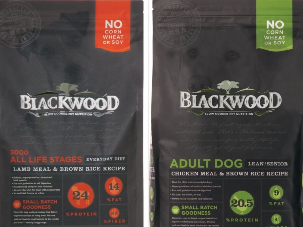 two large bags of dry dog food