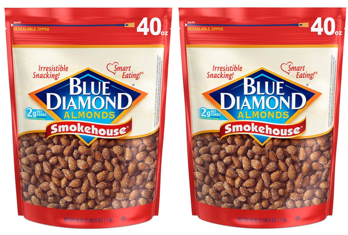 two bags of smokehouse almonds