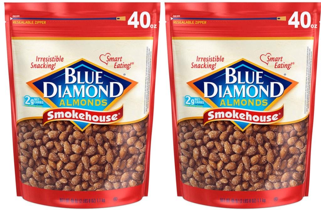 Blue Diamond Smokehouse Almonds 40oz bags