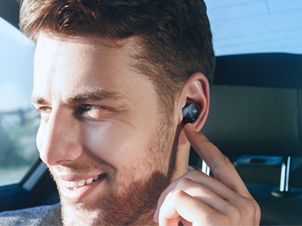 man with Boltune Bluetooth Wireless Earbuds