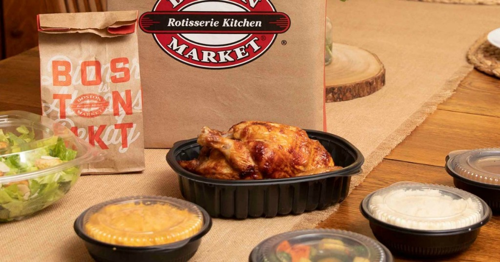 Boston Market Delivery Meal on table