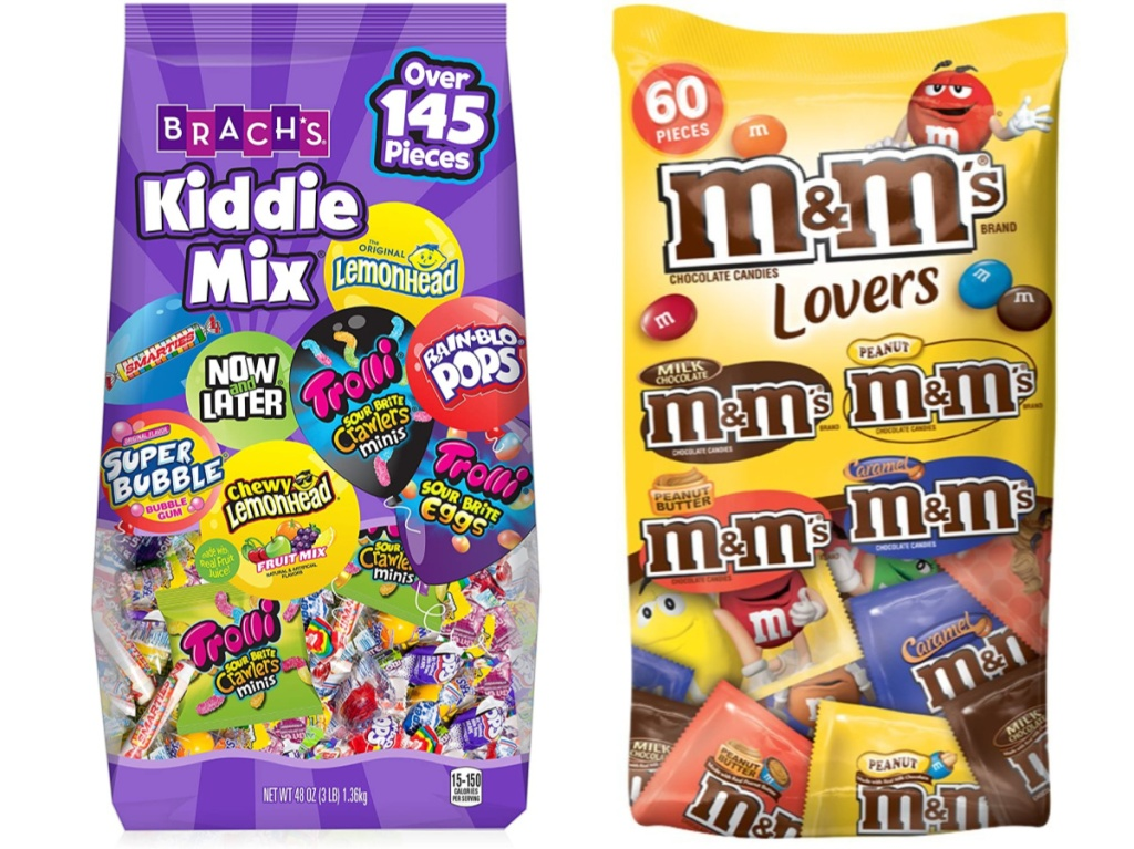 two bags of assorted candy